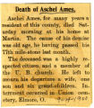 Death of Aschel Ames
