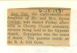 The Obituary of Ima Guy Colston