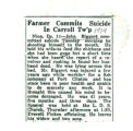 Farmer Commit Suicide In Carroll Tw'p