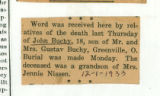 The Obituary of John Buchy