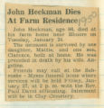 John Heckman Dies At Farm Residence
