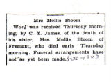 Mrs. Mollie Bloom