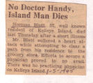 No Doctor Handy, Island Man Dies