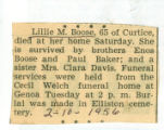 The Obituary for Lillie M. Boose of Curtice, Ohio
