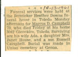 The Obituary for Marcus D. Campbell of Toledo(Ohio)