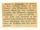 The Obituary for Myron L. Heiberger of Sandusky(Ohio)
