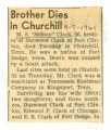 Brother Dies In Churchill