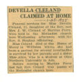 Devella Cleland Claimed At Home