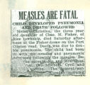 Measles Are Fatal