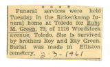 Obituary for 79 year old Ruby M. Green of Toledo(Ohio)