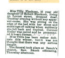 The Obituary for Miss Tilly Fleckner