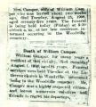 Obituaries of Mr. & Mrs. William Camper