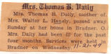 Mrs. Thomas B. Daily