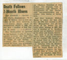 Death Follows 7 Month Illness