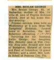 Obituary of Beulah George