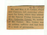 Obituary of Catherine Cotner