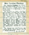 Obituary of Caroline Fleckner