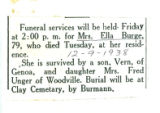 Obituary of Ella Burge