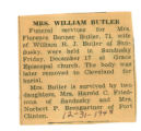 Obituary of Florence Butler
