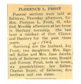 Obituary of Florence L. Frost