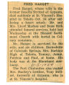 Obituary of Fred Harget