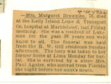 Obituary of Margaret Brownlee