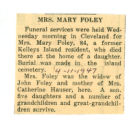 Mrs. Mary Foley