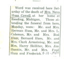 Obituary of Neva Cowell