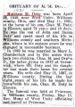 Obituary of M.M. Doty