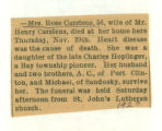Obituary of Rose Carstens