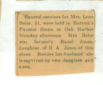 Obituary of Hazel Baker