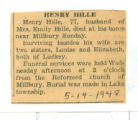 Henry Hille Obituary