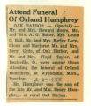 Funeral of Orland Humphrey