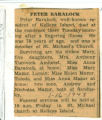 Obituary of Peter Baralock