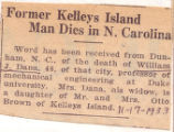 Former Kelleys Island Man Dies in N. Carolina