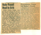 Baby Found ?Dead in Crib