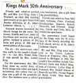 King's 50th Anniversary
