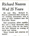 Richard Neaves Wed 25 Years