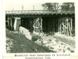 Woodville Road Underpass Construction for the New York Central Railroad