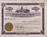 Bank of Elmore Co. Stock Certificate (1945)