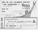 1987 Mr. Gay Columbus Contest entry form