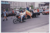 Motorcyclist in Gay Pride Parade
