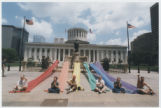 Rainbow Banners at Ohio Statehouse