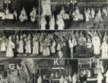 Ku Klux Klan parade photograph collage