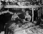 37th Infantry Division machine gun nest