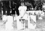 Girl attending Memorial Day Service at Camp Chase Confederate Cemetery