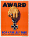 'Award for Careless Talk' poster