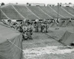 Ohio National Guard troops pitching tents