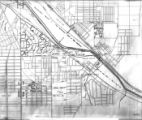 Youngstown Sheet and Tube Company and housing developments map