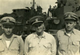 Woody Hayes with fellow servicemen during World War II